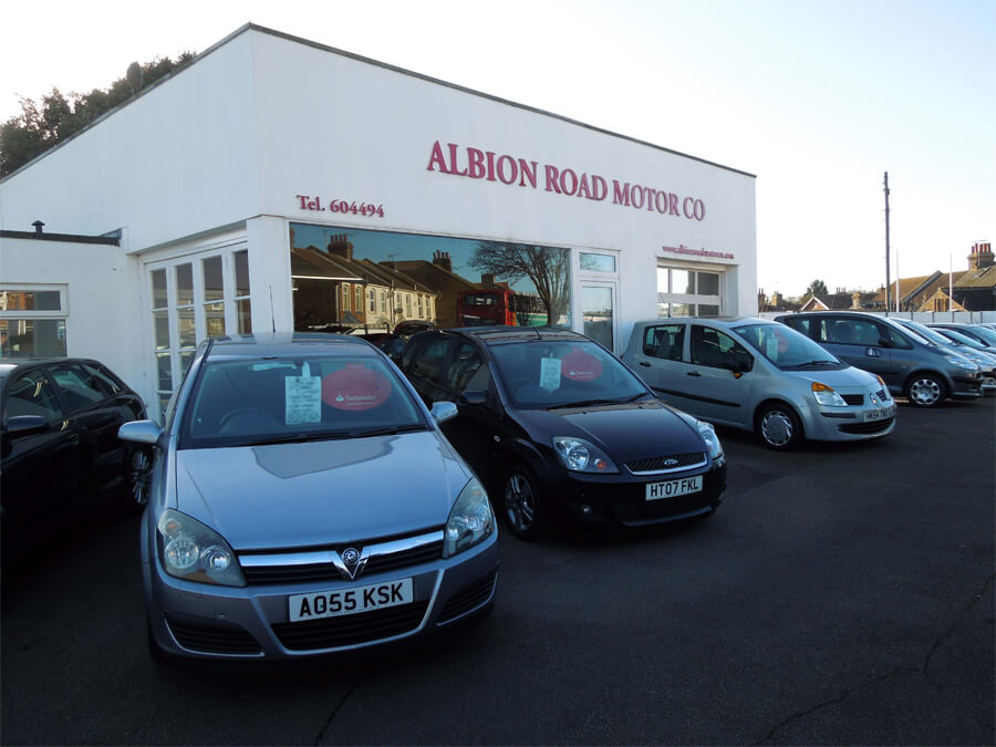 Albion Road Motor Co forecourt